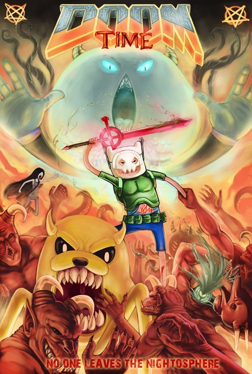 crossover,art,doom,adventure time