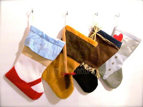 christmas,the wizard of oz,charactersm decor,stockings