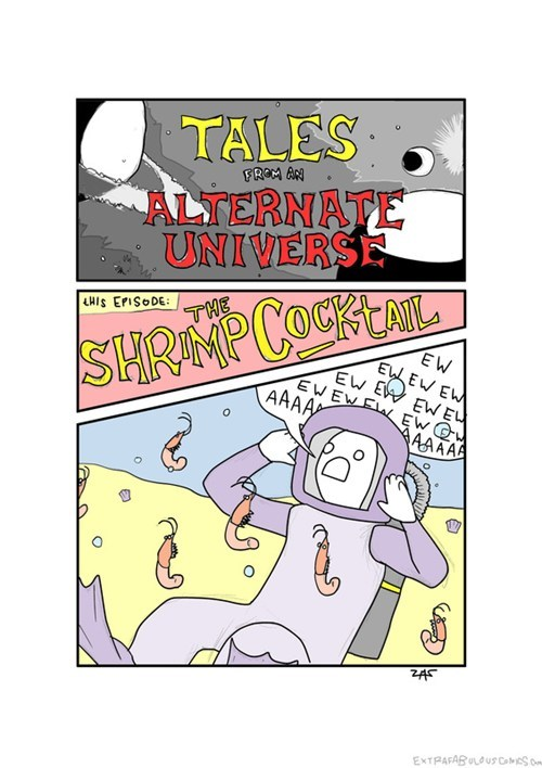 comics shrimp cocktail alternate universe extra fabulous - 6819274240