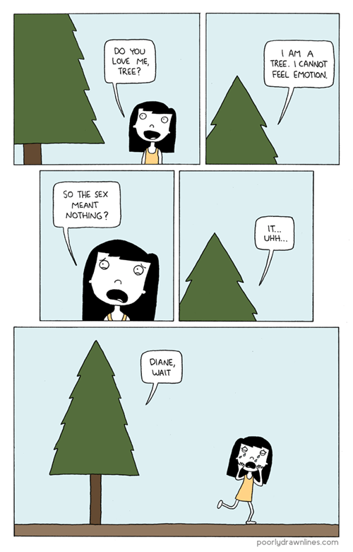 poorly drawn lines trees love me comics