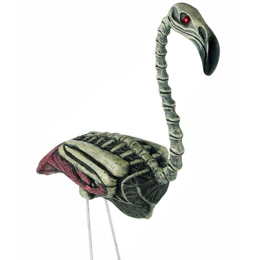 yard ornament zombie dead flamingo - 6819394048
