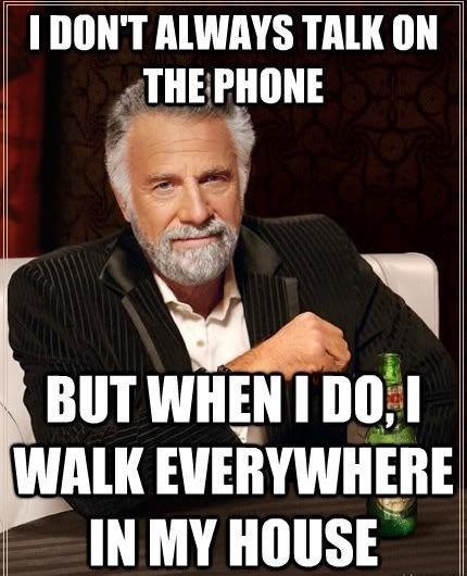 on the phone restless standing still - 6819456256