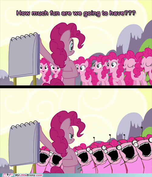 pinkie pie,all the things,TV,too many pinkie pies