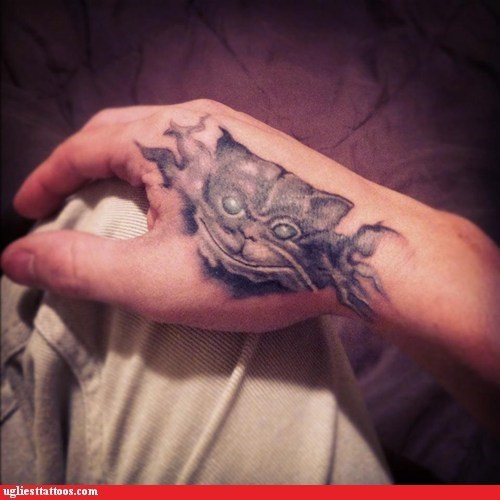 cat,hand tattoos,monster