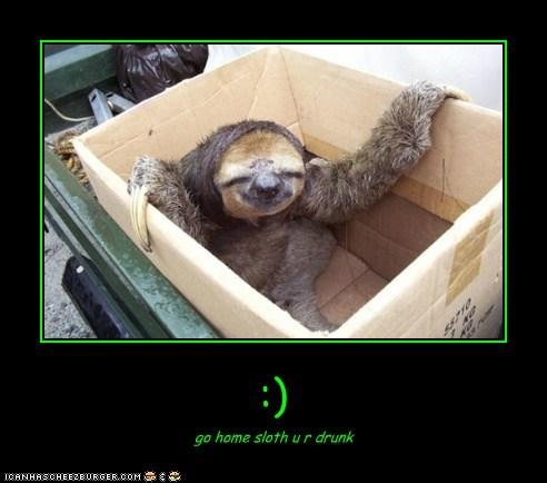 :) go home sloth u r drunk