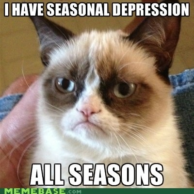 seasons seasonal depression Grumpy Cat