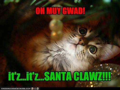 OH MUY GWAD! it'z...it'z...SANTA CLAWZ!!!