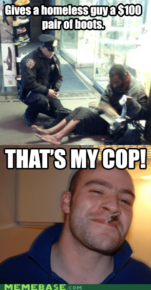 cops homeless Good Guy Greg good deeds - 6822860800
