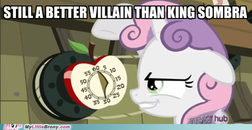 Teach her to fool with the Cutie Mark Crusaders