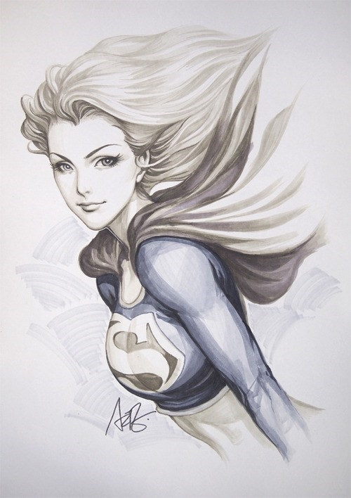 art awesome supergirl