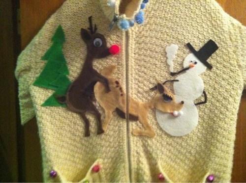 reindeer christmas sweaters snowman - 6822956032