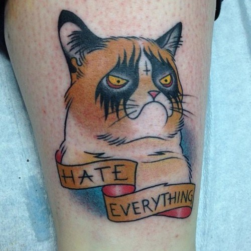 hate everything,Grumpy Cat,g rated,Ugliest Tattoos