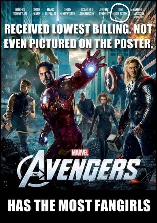 mark ruffalo scarlett johansson tom hiddleston poster robert downey jr Movie The Avengers Jeremy renner chris evans funny - 6823248128