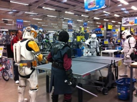 table tennis star wars stormtrooper shopping ping pong