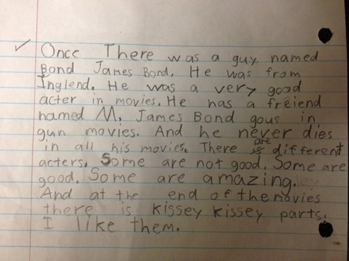 childrens-writing james bond g rated Parenting FAILS Hall of Fame best of week - 6823509504