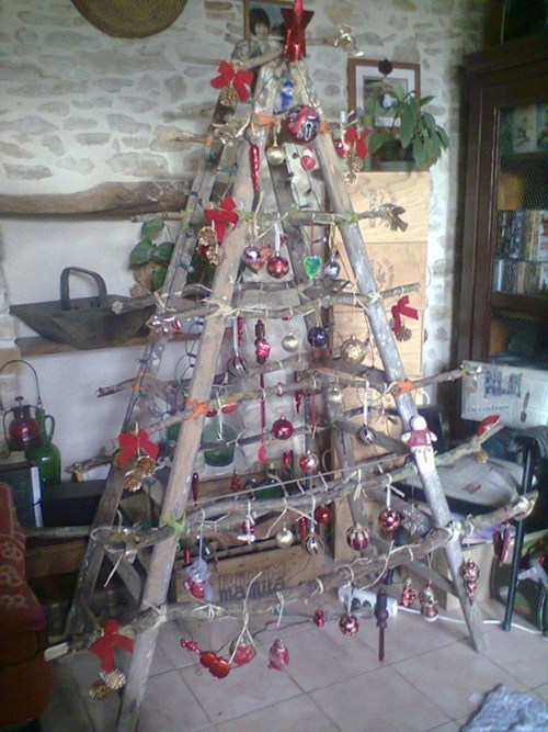 christmas ladder,christmas,christmas tree,g rated,there I fixed it