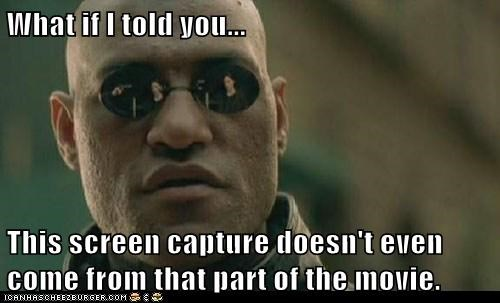screen cap Lawrence Fishburne Movie what if i told you Morpheus