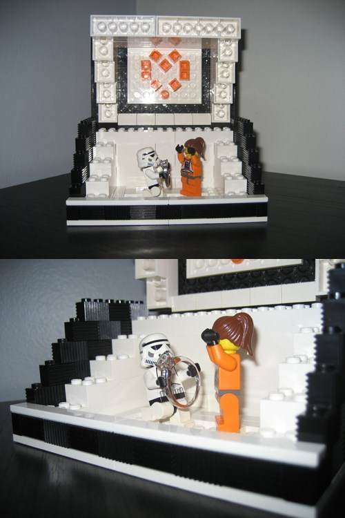 star wars lego stormtrooper proposal ring