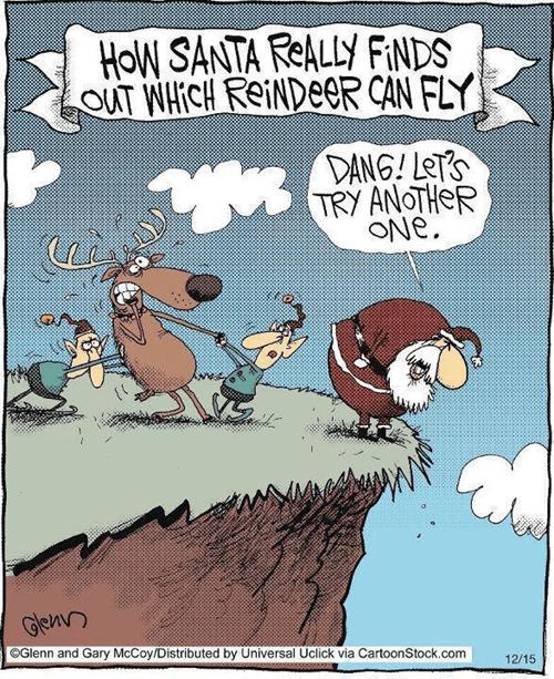 christmas reindeer comic santa funny holidays - 6823954432