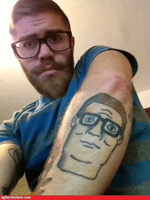 arm tattoos,hank hill,King of the hill,g rated,Ugliest Tattoos
