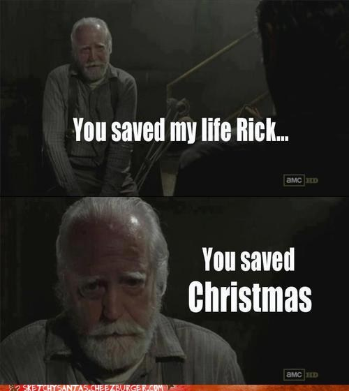christmas,amc,TV,santa,funny,The Walking Dead