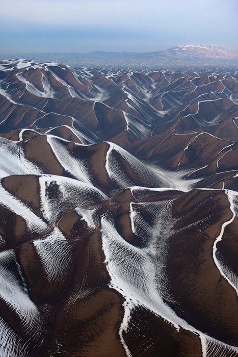 snow mountains winter afghanistan middle east