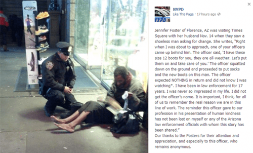 random act of kindness warm and fuzzy homeless stranger gift g rated win Hall of Fame best of week - 6824127488