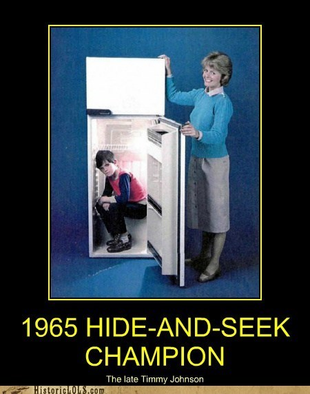 kid hide and seek refrigerator hide - 6824150784