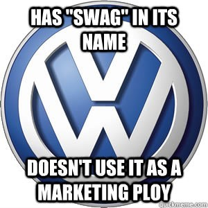 volkswagen,swag,marketing ploy