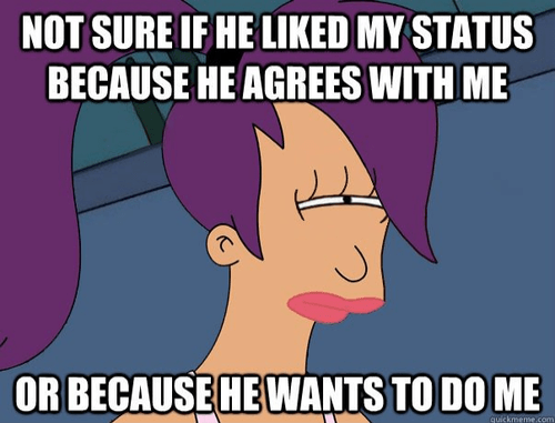 leela skeptical Futurama Fry dating