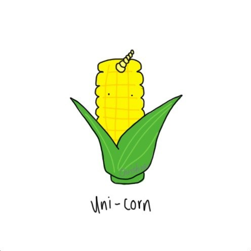 unicorn corn uni latin literalism one double meaning