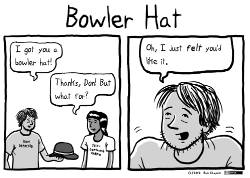 felt feeling bowler literalism double meaning hat material - 6824330240