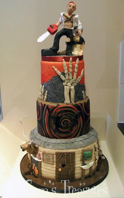 cake,ash,horror,evil dead,fondant