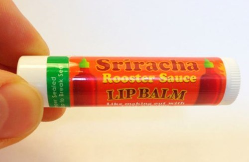 cosmetics,lip balm,hot sauce,sriracha