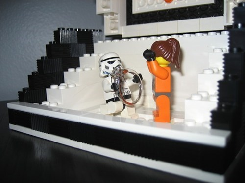 minifigs star wars lego stormtrooper proposal ring - 6824383744