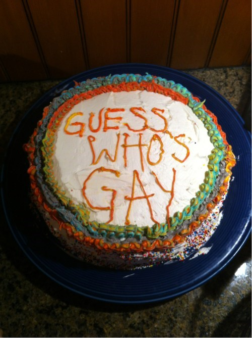 cake,lgbtq,coming out,food