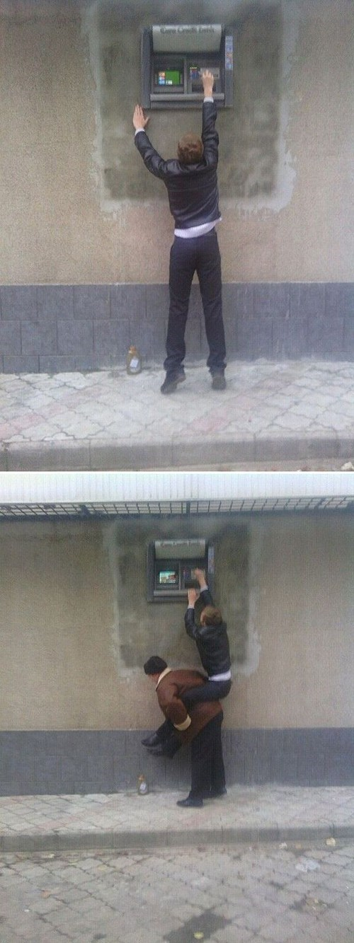 ATM,only in russia,clever,teamwork