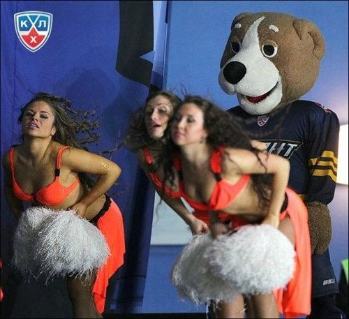 mascot,timing,accidental sexy,cheerleaders,perspective