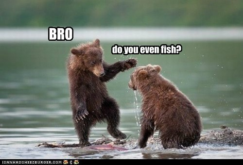 do you even lift bro bears water cubs fish - 6824638976