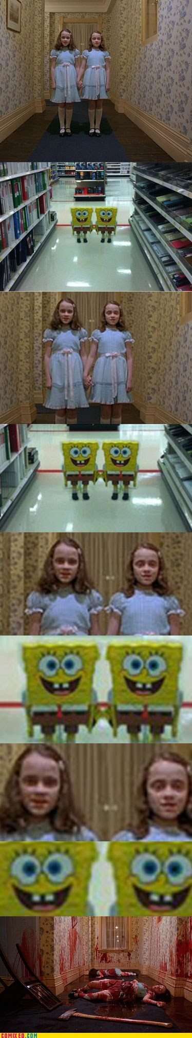 Movie SpongeBob SquarePants a challenger appears twins the shining