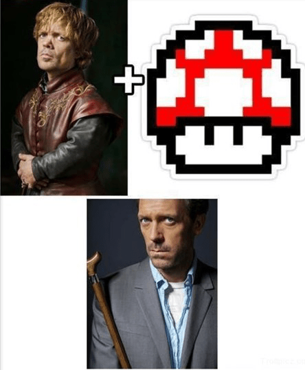 crossover Game of Thrones mushroom House MD tyrion lannister - 6826955264