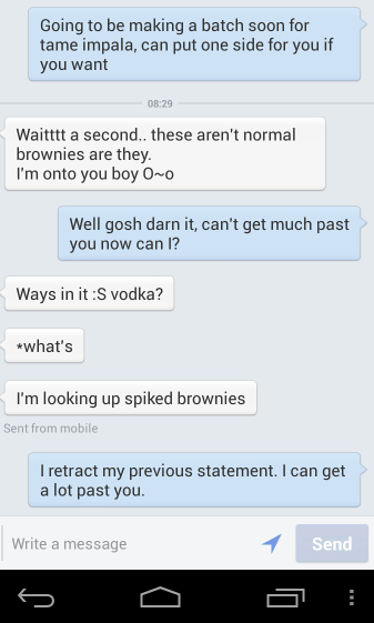 android spiked vodka brownies texting - 6827041024