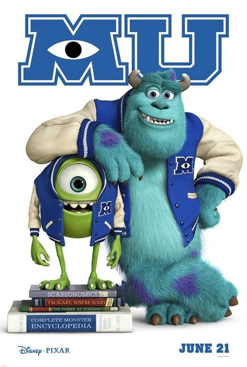 disney poster Movie monsters inc walt disney funny - 6827079168