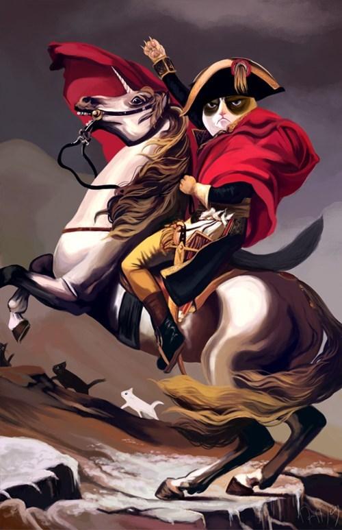 napoleon painting Grumpy Cat tard horse - 6827163648