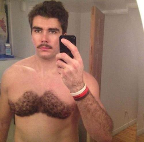 mustache,chest hair