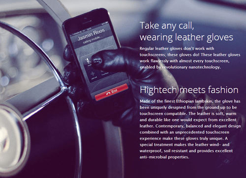 phone swag fingerless gloves leather gloves high tech - 6827603712