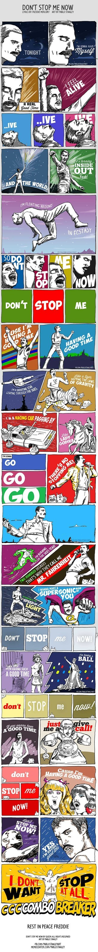 queen freddie mercury comic dont-stop-me-now Music FAILS g rated Hall of Fame best of week - 6827614976
