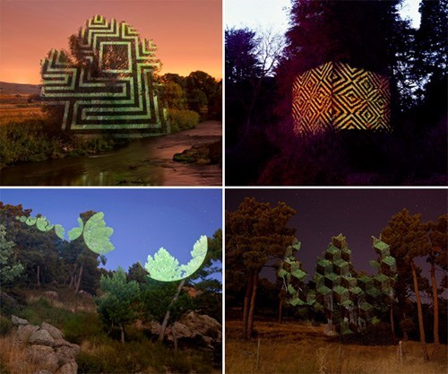 nature art outdoor landscape projection