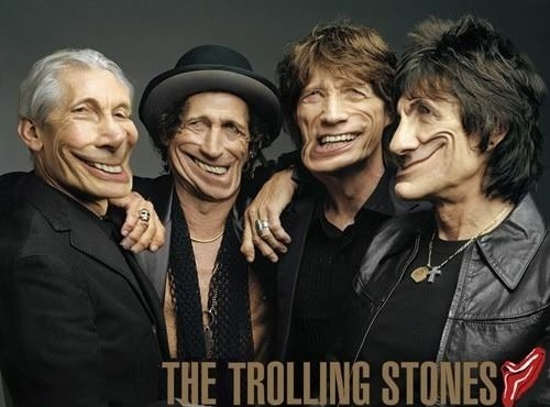 trolling,the rolling stones