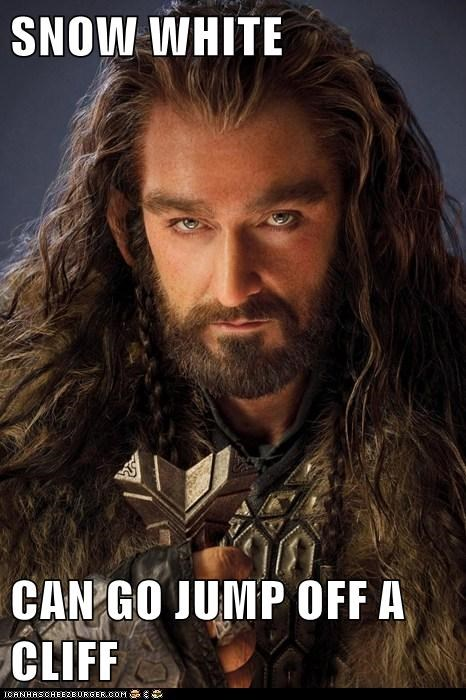 Badass richard armitage snow white The Hobbit cliff thorin oakenshield - 6828086528
